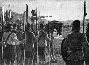 Bruce addressing the troops, E.B. Leighton 1909**